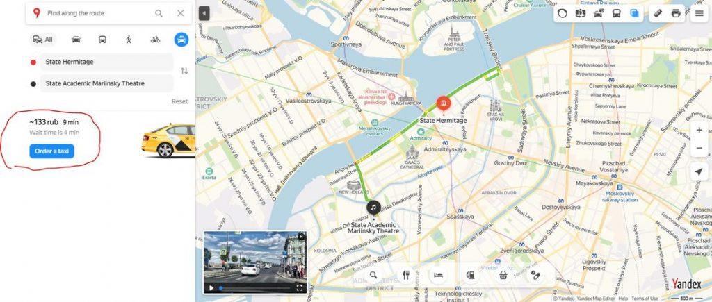 Yandex route